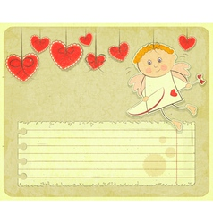 Retro valentines day card vector
