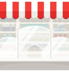 Facade of a shop store or pharmacy background vector