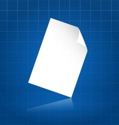 Clean document sheet over blueprint vector