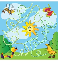 Childrens puzzle - maze vector