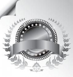 Laurel wreath medallion vector
