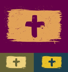 Brushed cross banners vector