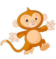 Little monkey vector