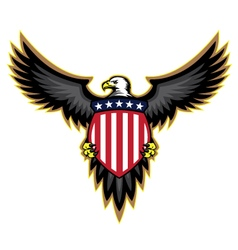 Patriotic american bald eagle and shield vector