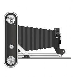 Vintage bellows camera vector