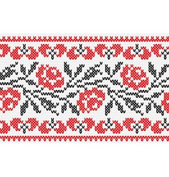 Ukrainian ornament knitting seamless texture vector