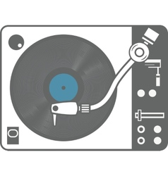 Record player vinyl record isolated vector