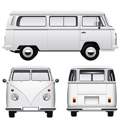 Retro white van vector