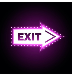 Glossy arrow with exit message vector