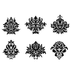 Floral and foliate design elements vector