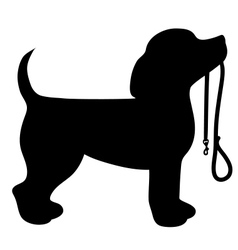 Beagle leash vector