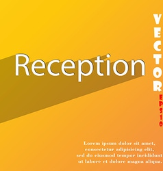 Reception icon symbol flat modern web design with vector