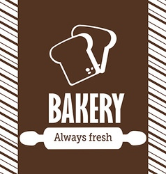 Bakery design over brown background vector