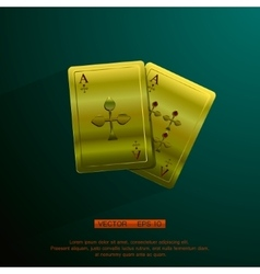 Golden aces vector