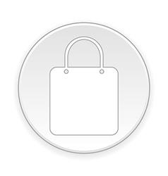Shopping bag button vector