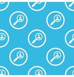 User details sign blue pattern vector