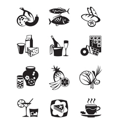 Grocery store and confectionery icons set vector