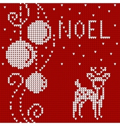 Cristmas card sweater with deer vector