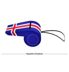 A whistle of the republic of iceland vector