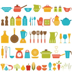 Kitchen set vector