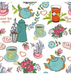 Tea seamless vector