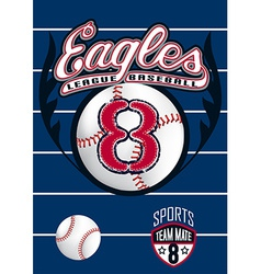 Eagle league baseball vector