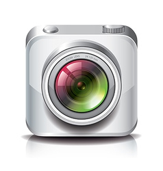 Object camera apps icon white vector