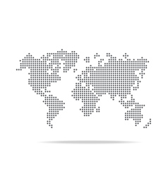 Dot world map isolated on the white background vector