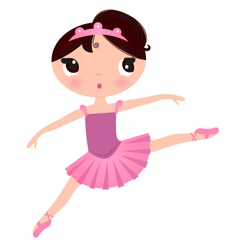 Beautiful cute ballerina in nice dress vector