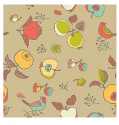 Nature seamless pattern vector