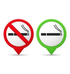 Smoking and no smoking area vector