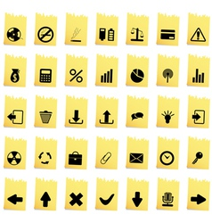 Collection of different icons vector