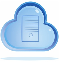 Cloud server button vector