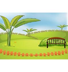 An empty park vector