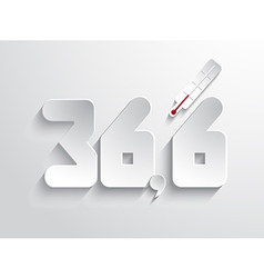 Normal body temperature symbol - white vector