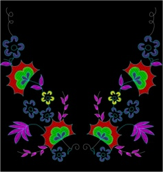 Embroidery decoration vector