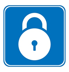 Lock symbol button vector