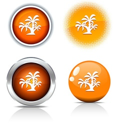 Tropical buttons vector