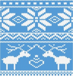 Knitted deer pattern vector