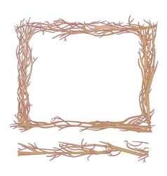 Frame made from branches vector