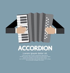 Vintage musical instrument accordion vector