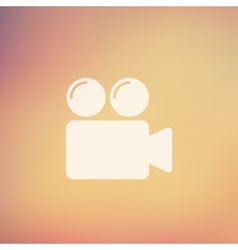 Video camera bubbles in flat style icon vector