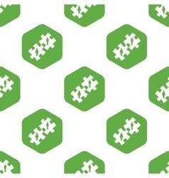 Couple puzzle pattern vector