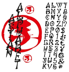 Alphabet handmade vector