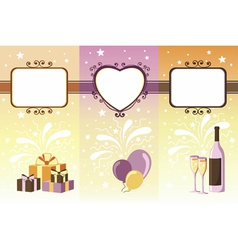 Set of celebration banners vector