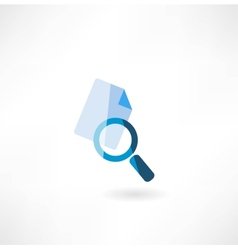 Document with a magnifying glass icon vector