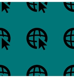 Globe web icon flat design seamless pattern vector