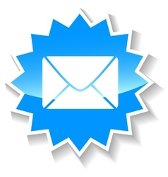Mail blue icon vector
