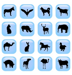 Animal buttons vector