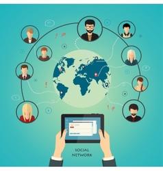Social media network concept vector
